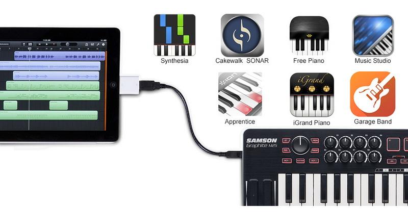 CP值爆表 ! SAMSON GRAPHITE M25 主控鍵盤,支援 iPad,iPhone